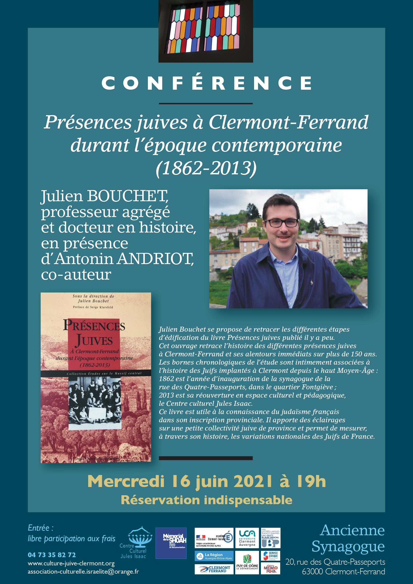Présences juives à Clermont Ferrand durant l'époque contemporaine (1862-2013)